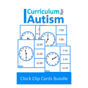 Telling Time Clock Clip Cards Bundle